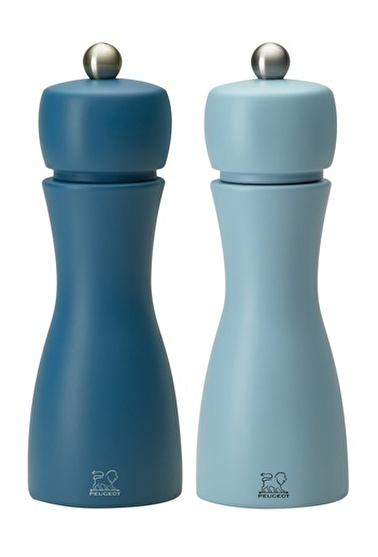 Peugeot Tahiti Tuz Ve Karabiber Değirmen Seti 15 Cm Mavi Mavi